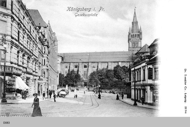 Königsberg, Gesekusplatz, Schloß