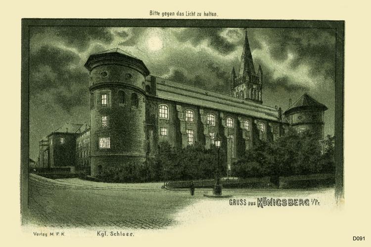 Königsberg, Schloß bei Nacht