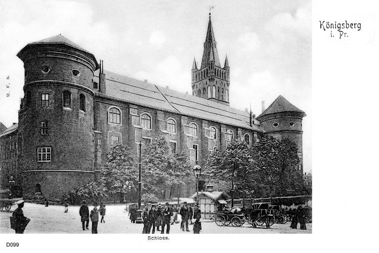 Königsberg, Schloß, Westseite