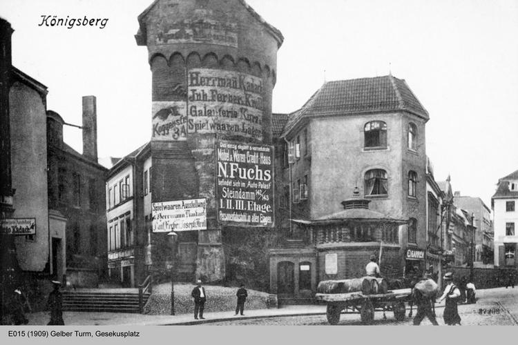 Königsberg, Gelber Turm, Gesekusplatz