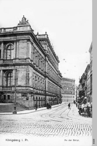 Königsberg, Börse an der Südseite