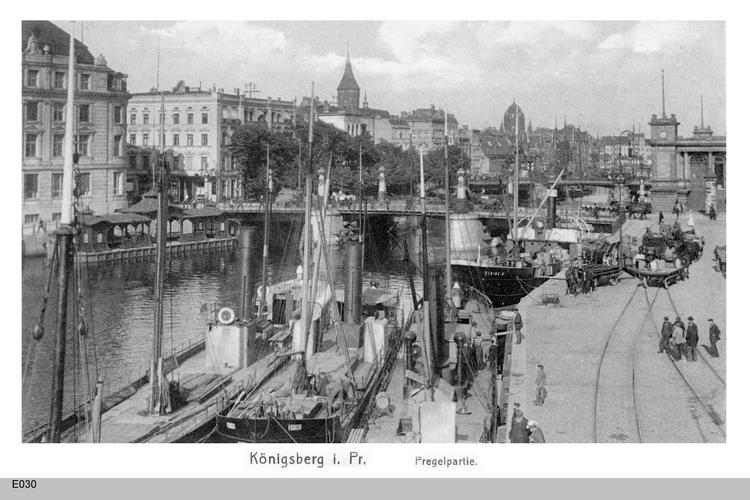 Königsberg, Pregel mit Grüner Brücke