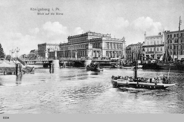Königsberg, Pregel mit Blick auf die Börse