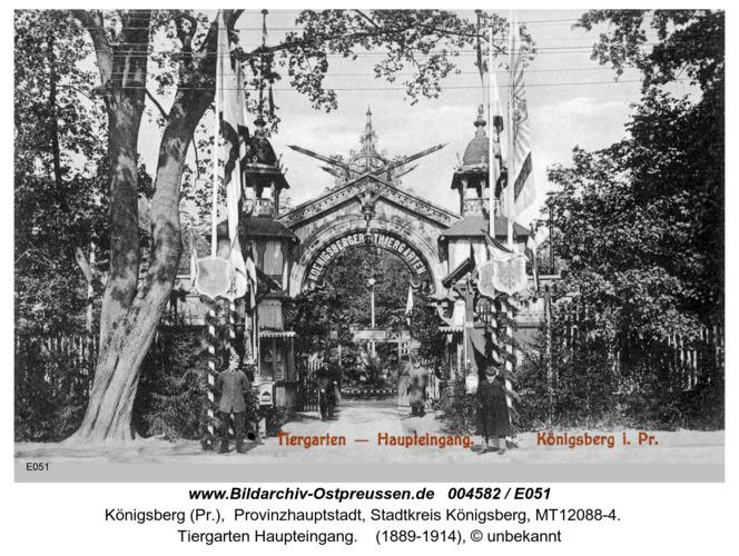 Königsberg, Tiergarten Haupteing
