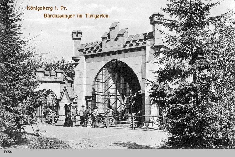 Königsberg, Tiergarten am Bärenzwinger