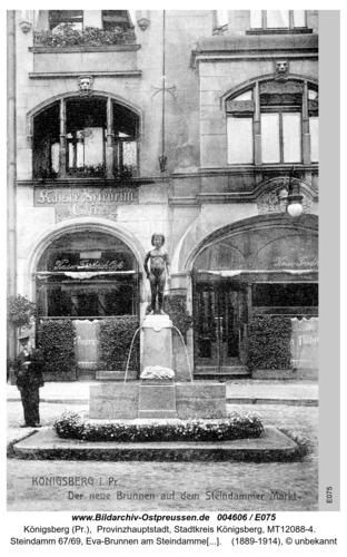 Königsberg, Neuer Brunnen am Steindammer Markt