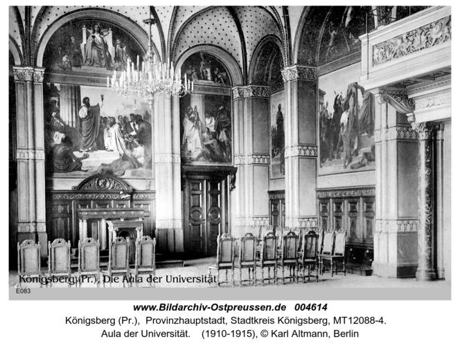 Königsberg, Aula der Universität