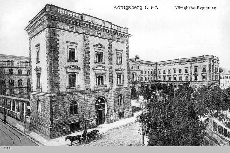 Königsberg, Königliche Regierung