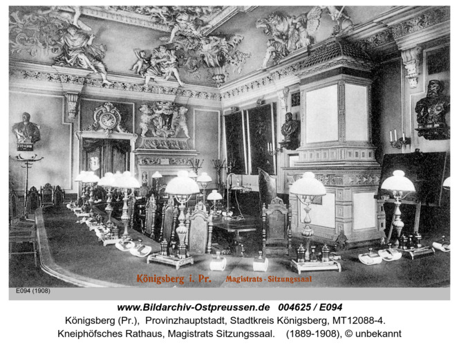 Königsberg, Magistrats Sitzungssaal