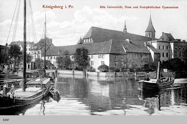 Königsberg, Alte Universität, Dom und Kneiphöfsches Gymnasium