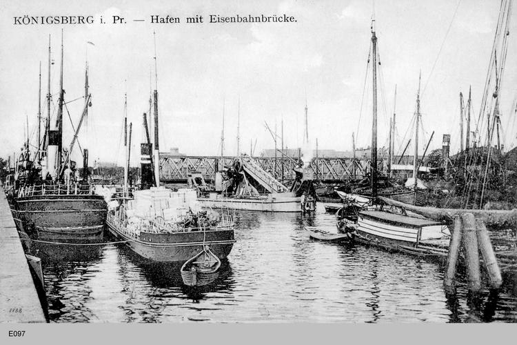 Königsberg, Hafen und Eisenbahnbrücke