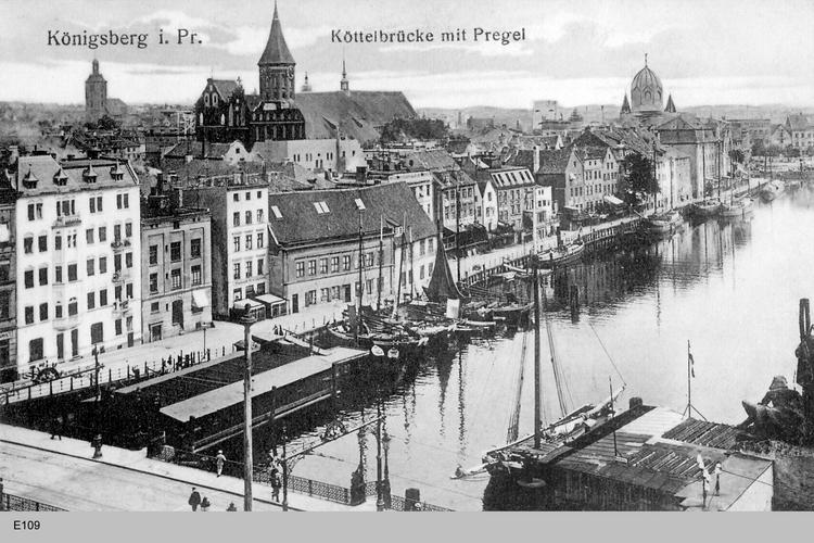 Königsberg, Köttelbrücke, Dom und Synagoge