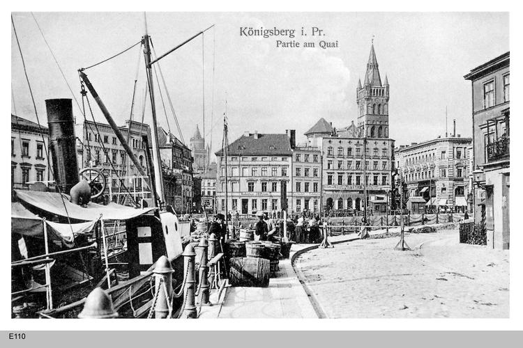 Königsberg, Partie am Quai