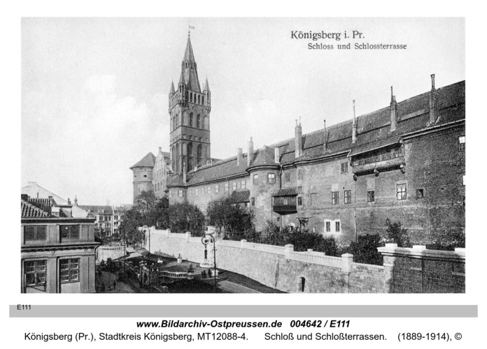 Königsberg, Schloß und Schloßterrassen