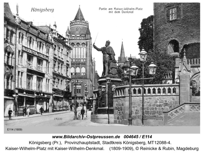 Königsberg, Partie am Kaiser-Wilhelm-Platz