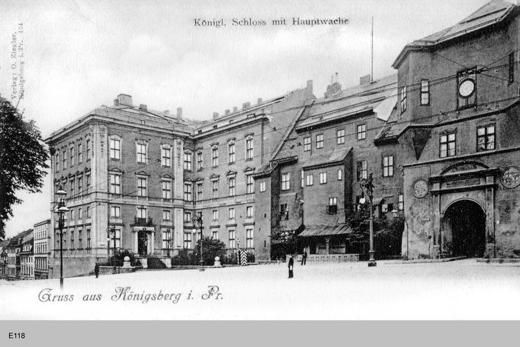 Königsberg, Schloß mit Hauptwache