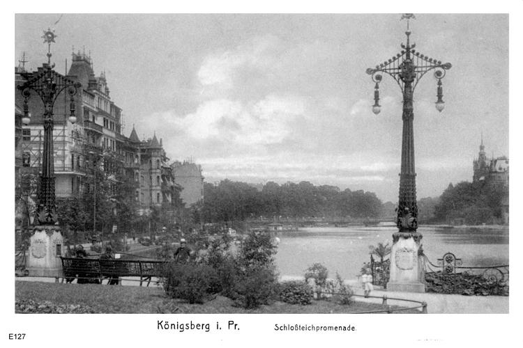 Königsberg, Schloßteichpromenade vom Münzplatz