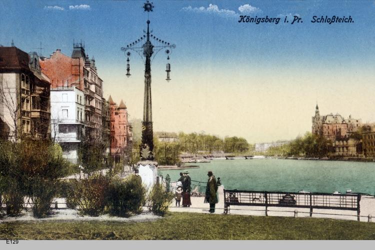 Königsberg, Schloßteich, coloriert
