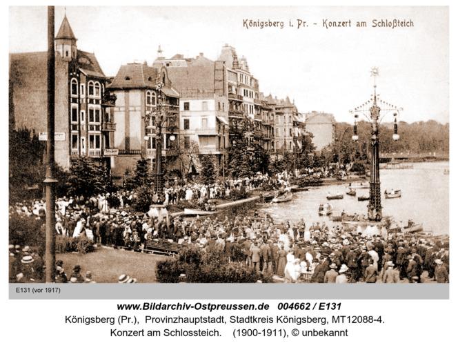 Königsberg, Konzert am Schloßteich