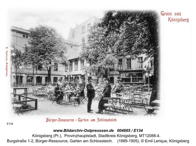 Königsberg, Bürger Ressource, Garten am Schloßteich