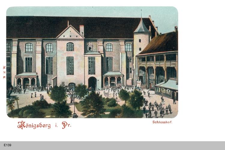 Königsberg, Schloßhof am Blutgericht, coloriert