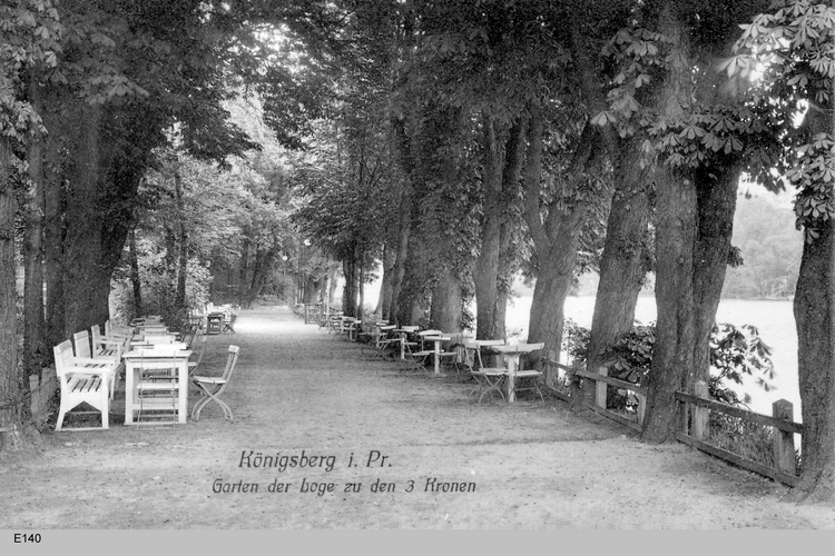 Königsberg, Garten der Loge zu den drei Kronen
