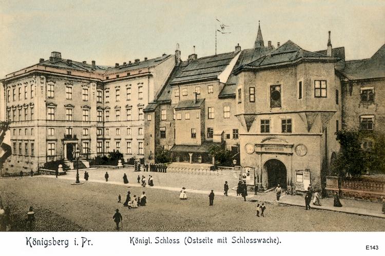 Königsberg, Königliches Schloss an der Ostseite mit Schlosswache