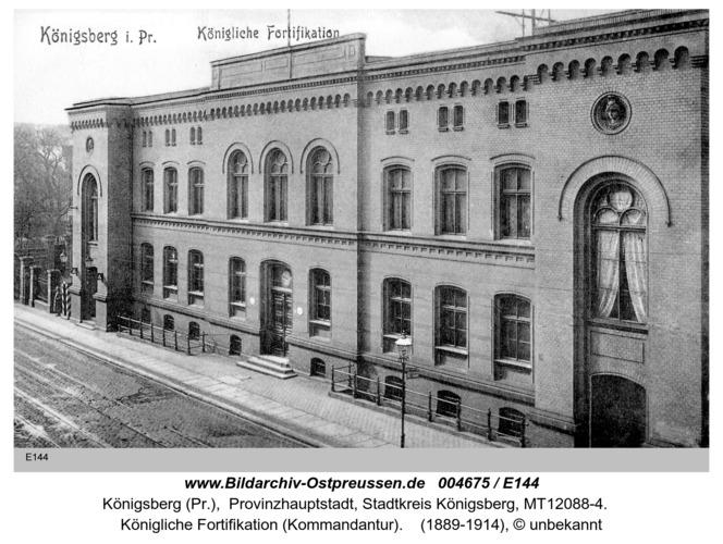 Königsberg, Königliche Fortifikation