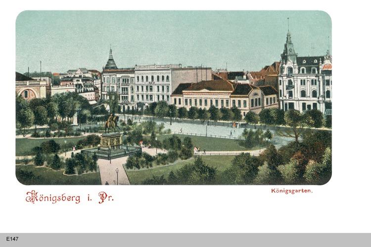 Königsberg, Königsgarten mit Denkmal Friedrich Wilhelm III