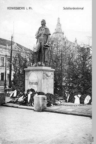 Königsberg, Schiller Denkmal
