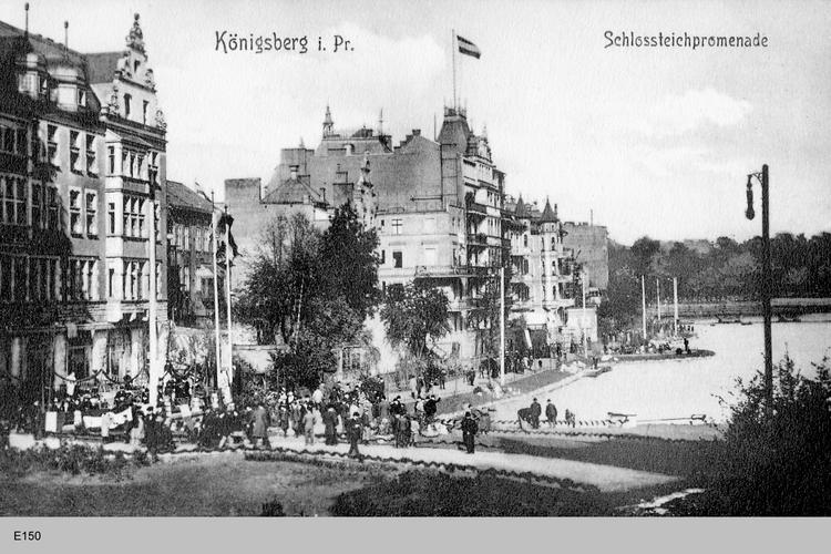 Königsberg, Schloßteich Promenade
