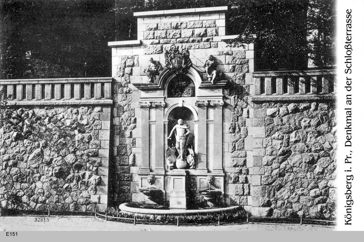 Königsberg, Denkmal an der Schloßterrasse
