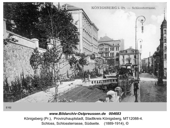 Königsberg, Schloß, Schloßterrasse, Südseite