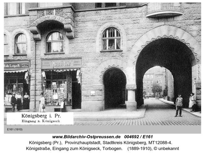 Königsberg, Eingang zum Königseck