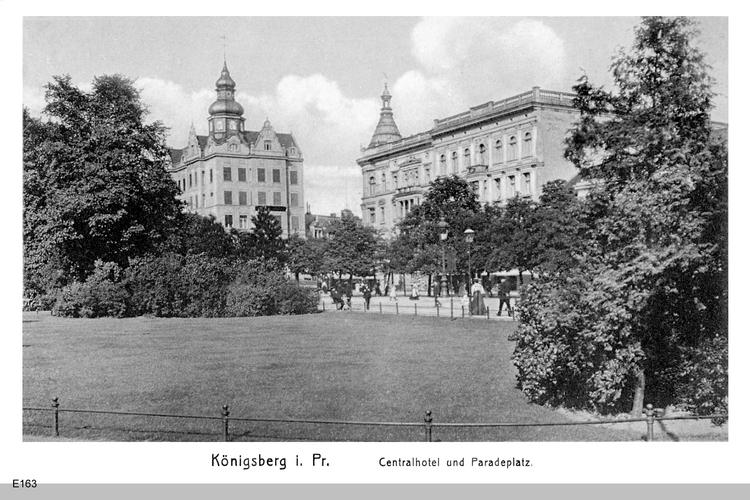 Königsberg, Paradeplatz mit Blick auf Centralhotel