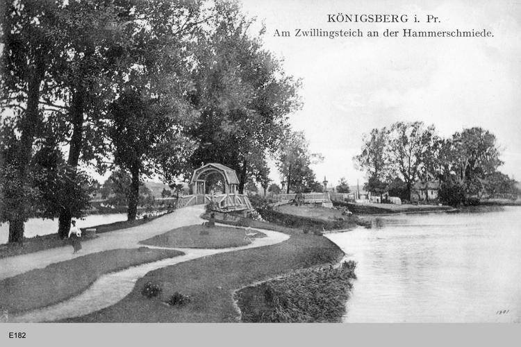Königsberg, Am Zwillingsteich an der Hammerschmiede