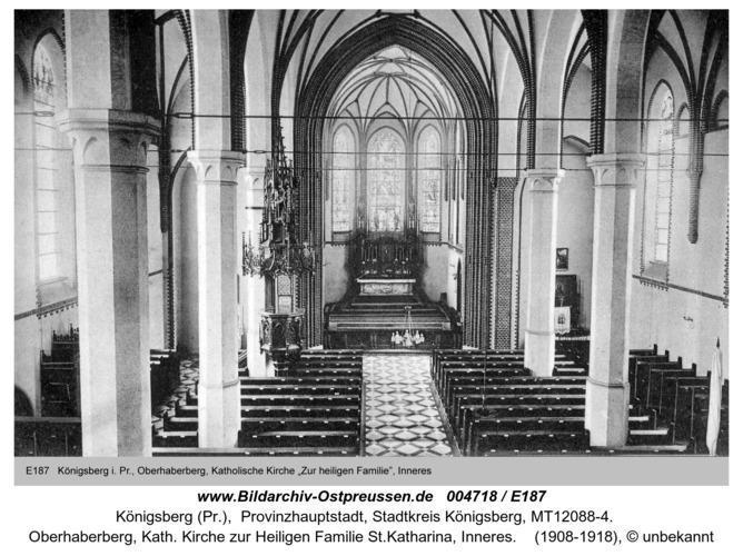Königsberg, Katholische Kirche zur Heiligen Familie, Inneres