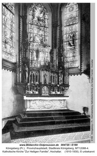 Königsberg, Katholische Kirche zur Heiligen Familie, Hochaltar
