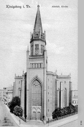 Königsberg, Altstädtische Kirche, Kirchturm