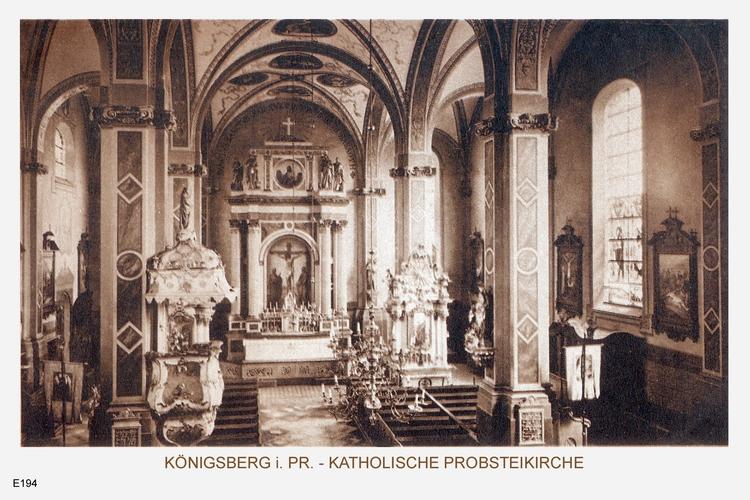 Königsberg, Katholische Probsteikirche Innenafnahme