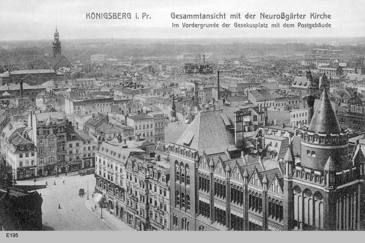 Königsberg, Panoramablick vom Turm der Schlosses