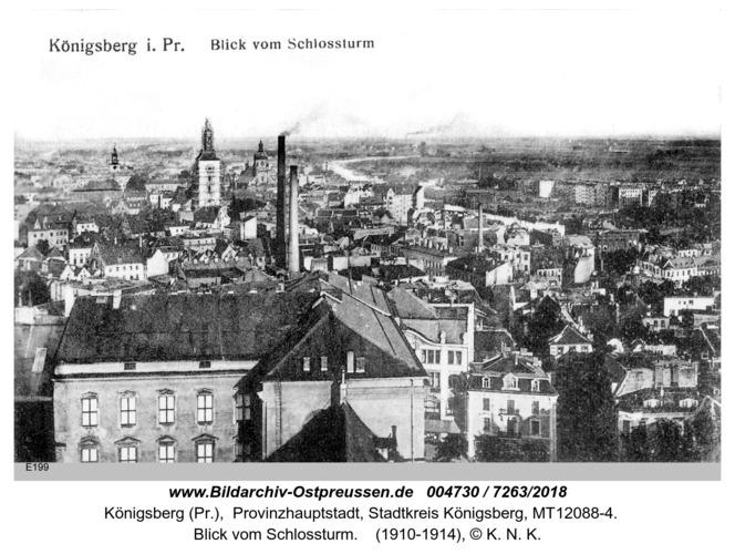 Königsberg, Blick vom Schloßturm
