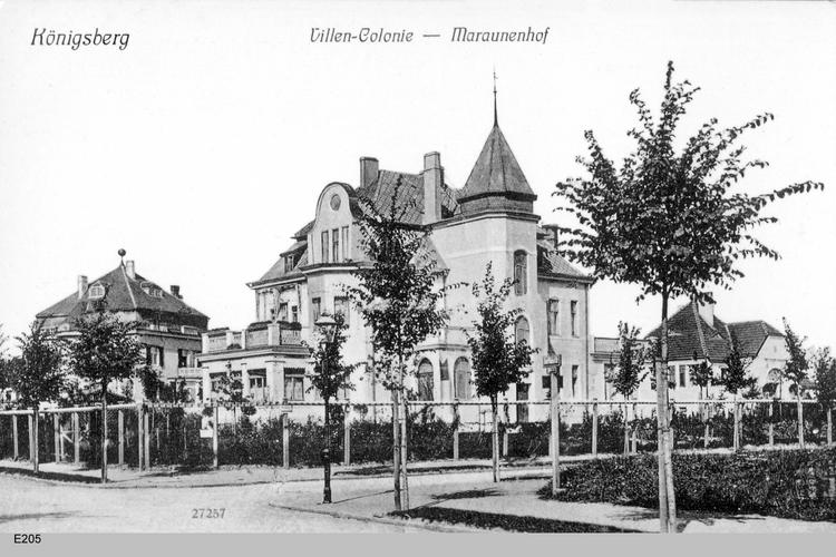 Königsberg, Maraunenhof, Villenkolonie