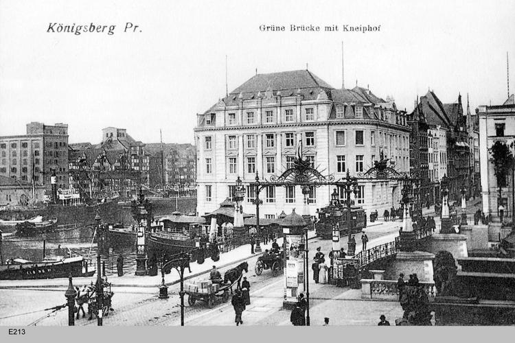 Königsberg, Grüne Brücke, Kneiphof