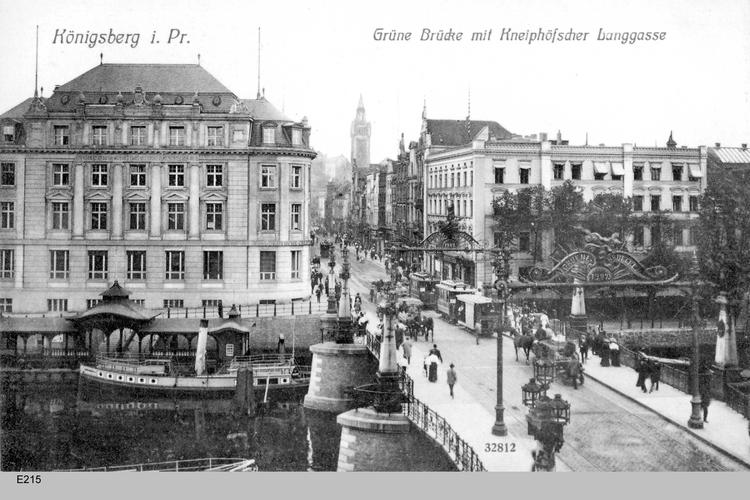 Königsberg, Grüne Brücke, Kneiphöfsche Langgasse