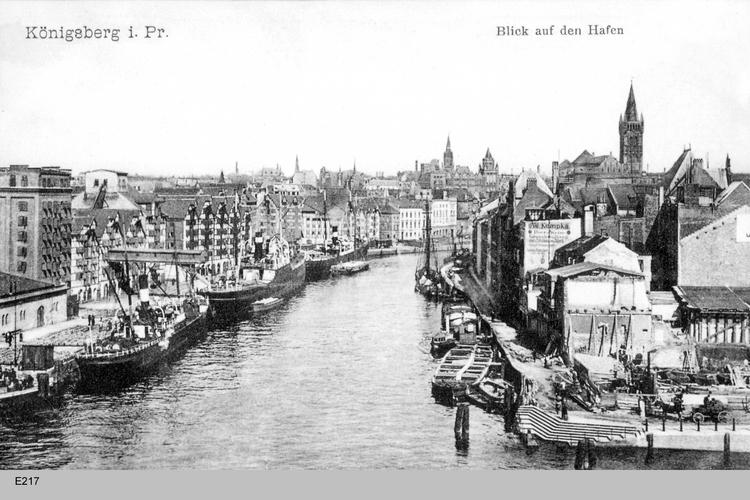 Königsberg, Hundegatt, Blick auf den Hafen