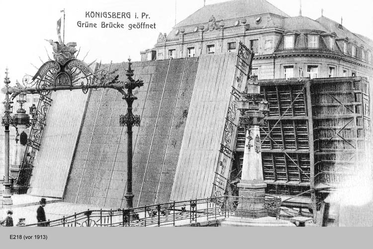Königsberg, geöffnete Grüne Brücke