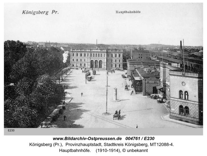 Königsberg, Hauptbahnhöfe