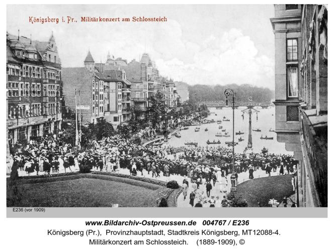 Königsberg, Militärkonzert am Schloßteich