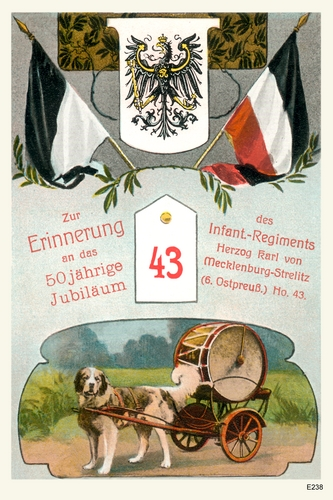 Königsberg, Jubileumskarte des Infant.-Regiments Herzog Karl von Mecklenburg Strelitz